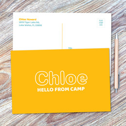 Modern Yellow Postcards