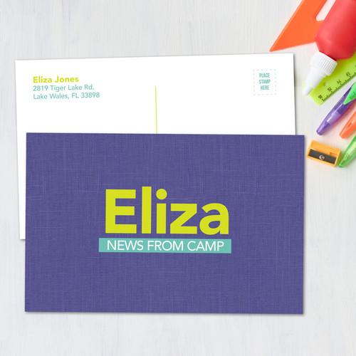 Linen Purple Style Postcards