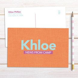 Linen Orange Style Postcards