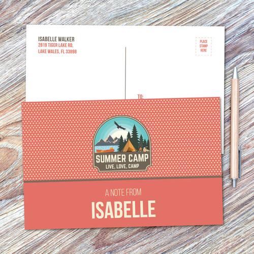Live, Love, Camp Orange Postcards