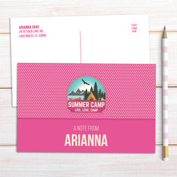 Live, Love, Camp Pink Postcards