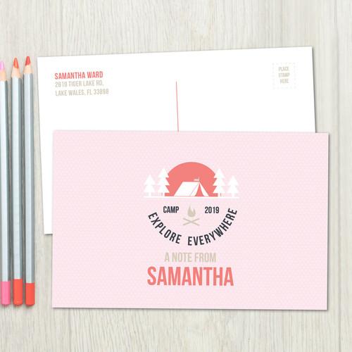 Explore Everywhere Pink Postcards