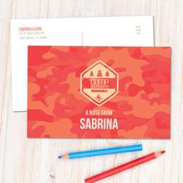 Camouflage Camp Orange Postcards