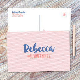 Cute Minimalist Name Postcards