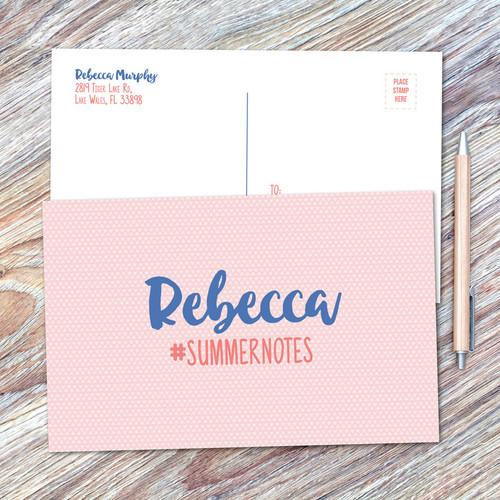 Cute Minimalist Name Postcards