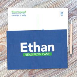 Linen Blue Style Postcards