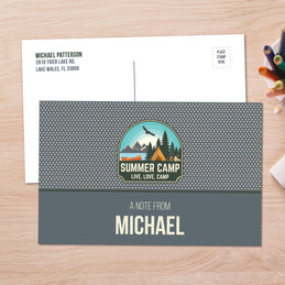 Live, Love, Camp Gray Postcards