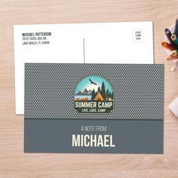 Live, Love, Camp Gray Postcards