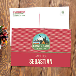 Live, Love, Camp Red Postcards