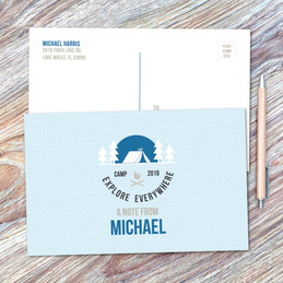 Explore Everywhere Blue Postcards
