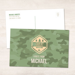 Camouflage Camp Green Postcards