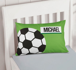 Soccer Fan Green Pillowcase Cover