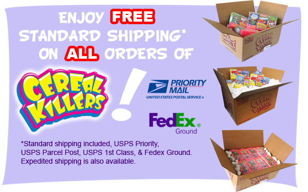 Free Shipping on Cereal Killers!