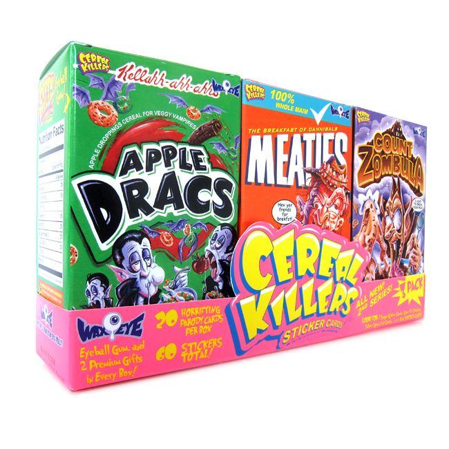 ALL NEW Cereal Killers Trading Cards