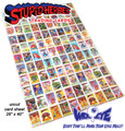 Stupid Heroes Trading Cards - Uncut Card Sheet - Series 1