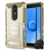 ZIZO ELECTRO Series Compatible with Alcatel Onyx Case with Tempered Glass Screen Protector Card Slot and Air Vent Magnetic Holder Desert Tan CamoGreen 1ELC-ALCONYX-DTCG