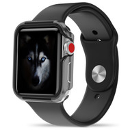 ZIZO SHOCK Series Apple Watch 42mm Case - Military Grade Drop Tested with METALLIC Bumper (Gray & Black) SHK-AWatch42-GRBK