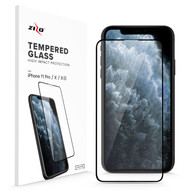ZIZO Full Glue Glass Compatible with iPhone X / iPhone 11 Pro Tempered Glass Screen Protector 0.33mm 9H Hardness GLSHD-IPHX-BLK