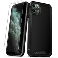 ZIZO ION Series iPhone 11 Pro Max Case - Military Grade Drop Tested with Tempered Glass Screen Protector - Matte Black IONC-IPH65-BKBK