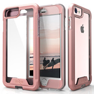 ZIZO ION Series Compatible with iPhone 8 Case Military Grade Drop Tested with Tempered Glass Screen Protector iPhone 6s iPhone 7 Case Rose Gold Clear IONC-IPH7-RGDCL