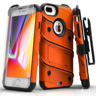 ZIZO BOLT Series iPhone 8 Plus Case Military Grade Drop Tested Tempered Glass Screen Protector Holster iPhone 7 Plus Case ORANGE 1BOLT-IPH7PLUS-ORBK