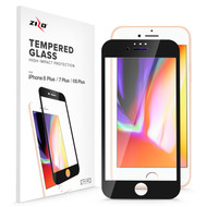 ZIZO Full Glue Glass Compatible with iPhone 8 Plus Tempered Glass Screen Protector 0.33mm 9H Hardness iPhone 7 Plus 6s Plus Screen Protector Black GLSHD-IPH7PLUS-BLK