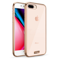 ZIZO REFINE Series iPhone 8 Plus Case Slim Clear with PC METALLIC Bumper iPhone 7 Plus Gold Clear RFE-IPH7PLUS-GDCL