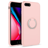 ZIZO REVOLVE Series Compatible with iPhone 8 Plus Case with Built In 360 Ring Holder Magnetic Mount and Kickstand iPhone 7 Plus Rose Quartz REV-IPH7PLUS-RSQR