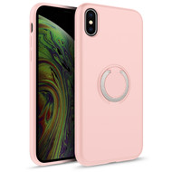 ZIZO REVOLVE Series iPhone X / iPhone XS Case with Built-in Ring Holder  Kickstand, Ultra Thin Design Magnetic Mount Compatible (Rose Quartz) REV-IPHX-RSQR