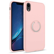 ZIZO REVOLVE Series Compatible with iPhone XR Case with Built In 360 Ring Holder Magnetic Mount and Kickstand Rose Quartz REV-IPHXR-RSQR
