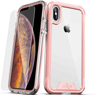 ZIZO ION Series Compatible with iPhone Xs Max Case Military Grade Drop Tested with Tempered Glass Screen Protector (Rose Gold & Clear) 1IONC-IPHXSMAX-RGDCL