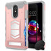 ZIZO ELECTRO Series Compatible with LG K30 Case with Tempered Glass Screen Protector Card Slot and Air Vent Magnetic Holder Harmony 2 Rose Gold Gray ELC-LGHM2-RGDGR