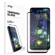 ZIZO Full Glass Compatible with LG V50 ThinQ 5G Tempered Glass Screen Protector Anti Scratch 9H Hardness Black FLSHD-LGV50-BLK