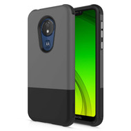 ZIZO DIVISION Series Motorola Moto G7 Supra Case Lightweight with Anti Scratch Shockproof G7 Power Gray Black DVS-MOTG7S-GRBK