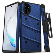 ZIZO BOLT Series Samsung Galaxy Note 10 Plus Case | Heavy-duty Military-grade Drop ProtectION w/ Kickstand Included Belt Clip Holster Lanyard (Blue/Black) BOLT-SAMGN10PLUS-BLBK