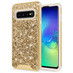 ZIZO STELLAR Series Compatible with Samsung Galaxy S10 Case Dual Layer with Glitter Design Gold Gold STL-SAMGS10-GDGD