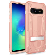 ZIZO TRANSFORM Series Compatible with Samsung Galaxy S10 Case Dual Layered with Built in Kickstand Slim and Shockproof Rose Gold Peach TFM-SAMGS10-RGDPH