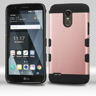 LG Stylo 3 Rose Gold/Black TUFF Trooper Hybrid Protector Cover [Military-Grade Certified](with Package)