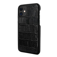 Piel Frama 838 Black Crocodile LuxInlay Leather Case for Apple iPhone 11
