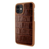 Piel Frama 838 Brown Crocodile LuxInlay Leather Case for Apple iPhone 11