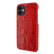 Piel Frama 838 Red Crocodile LuxInlay Leather Case for Apple iPhone 11
