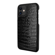 Piel Frama 838 Black Lizard LuxInlay Leather Case for Apple iPhone 11
