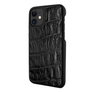 Piel Frama 838 Black Wild Crocodile LuxInlay Leather Case for Apple iPhone 11