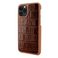 Piel Frama 835 Brown Crocodile LuxInlay Leather Case for Apple iPhone 11 Pro Max