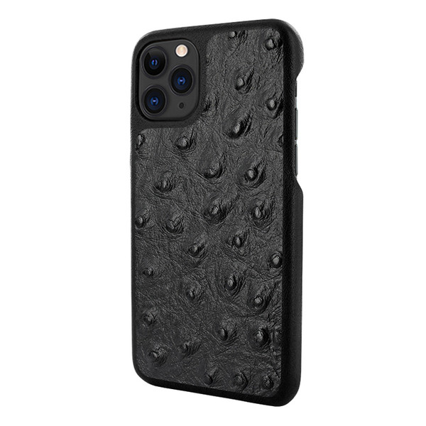 Piel Frama 832 Black Ostrich LuxInlay Leather Case for Apple iPhone 11 Pro