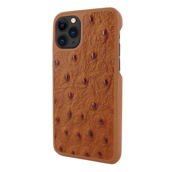 Piel Frama 832 Tan Ostrich LuxInlay Leather Case for Apple iPhone 11 Pro