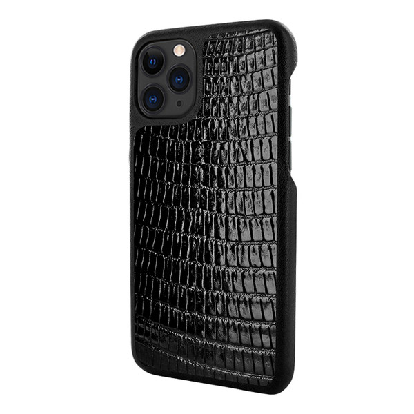 Piel Frama 832 Black Lizard LuxInlay Leather Case for Apple iPhone 11 Pro