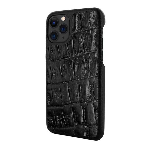 Piel Frama 832 Black Wild Crocodile LuxInlay Leather Case for Apple iPhone 11 Pro