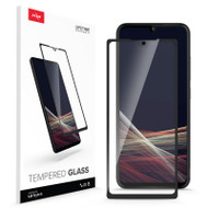 ZIZO TEMPERED GLASS Screen Protector for LG Stylo 6 Full Glue Clear Screen Protector with Anti Scratch and 9H Hardness - Black GLSHD-LGSTL6-BLK