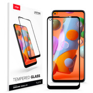 ZIZO TEMPERED GLASS Screen Protector for Samsung Galaxy A11 Full Glue Clear Screen Protector with Anti Scratch and 9H Hardness - Black GLSHD-SAMGA11-BLK